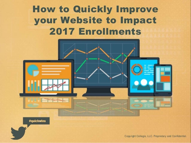 How to Quickly Improve your Website to Impact 2017 Enrollments Copyright Collegis, LLC. Proprietary and Confidential.