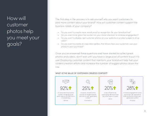 Quick Wins to Get Customers Posting Content About Your Brand Slide 3