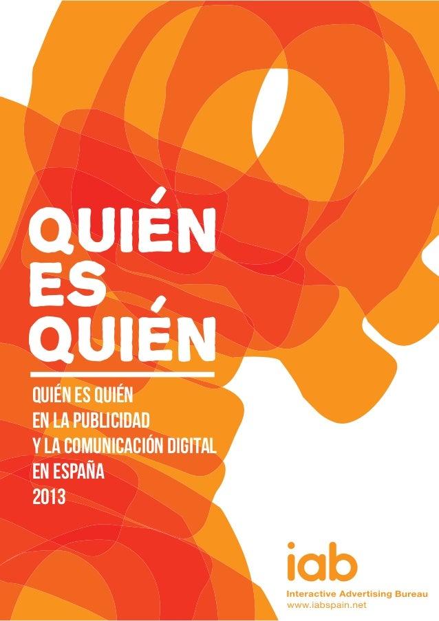 ES Quién es Quién en la Publicidad y la Comunicación Digital en España 2013