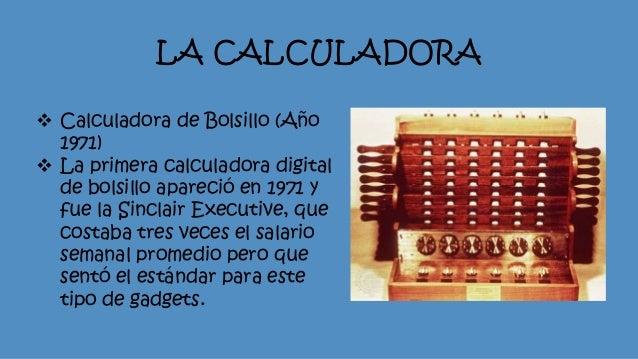 Resultado de imagen para la primer calculadora de bolsillo