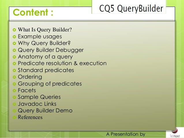 Quiery builder Slide 2