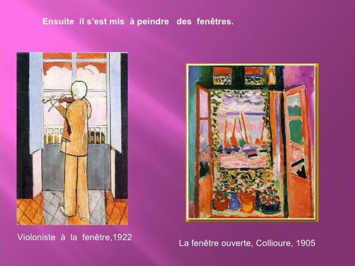 Qui est henri matisse for Matisse fenetre ouverte