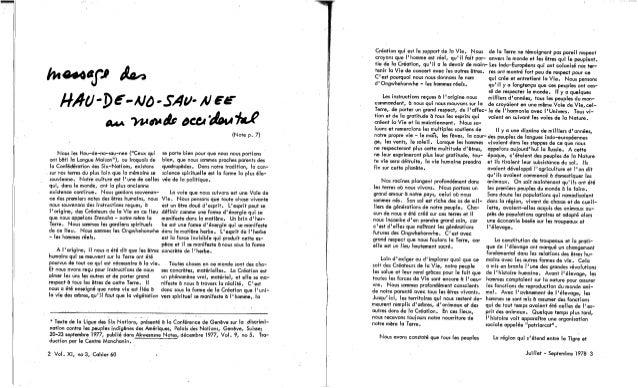 58-Qui est Québécois? Témoignages. Ka-Ien-Ta-Ron-Kwen, D. Blanchette-Mukerjee et al. (Textes fr. et angl.) (document à télécharger en format PDF, 1,2Mb). Slide 3