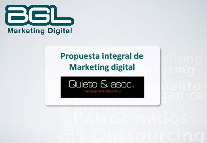 Propuesta integral de   Marketing digital