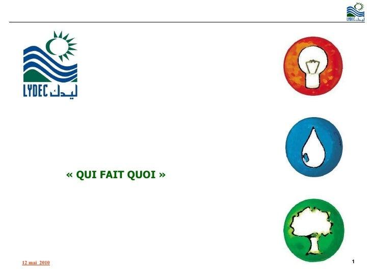 ORGANISATION INTERNE «QUI FAIT QUOI»