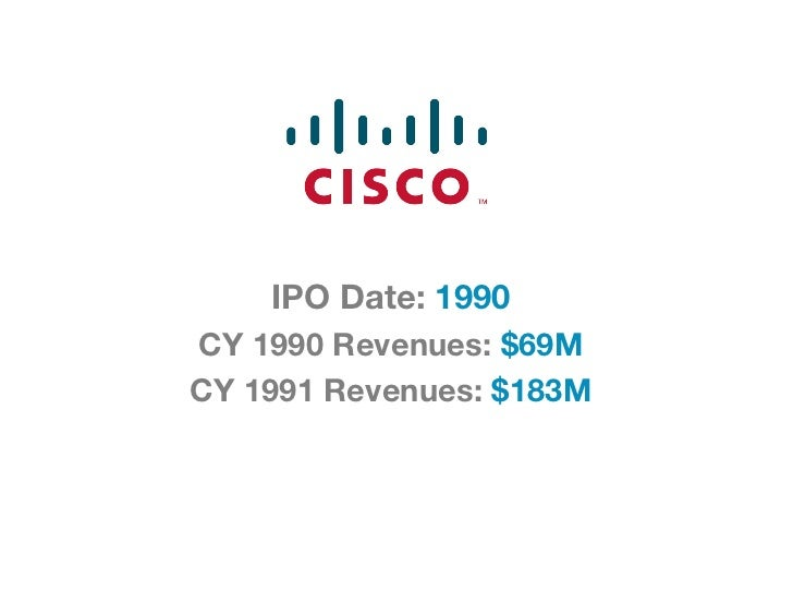 IPO Date: 1990CY 1990 Revenues: $69MCY 1991 Revenues: $183M