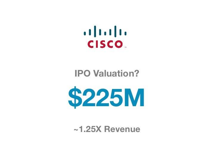 IPO Valuation? $225M~1.25X Revenue