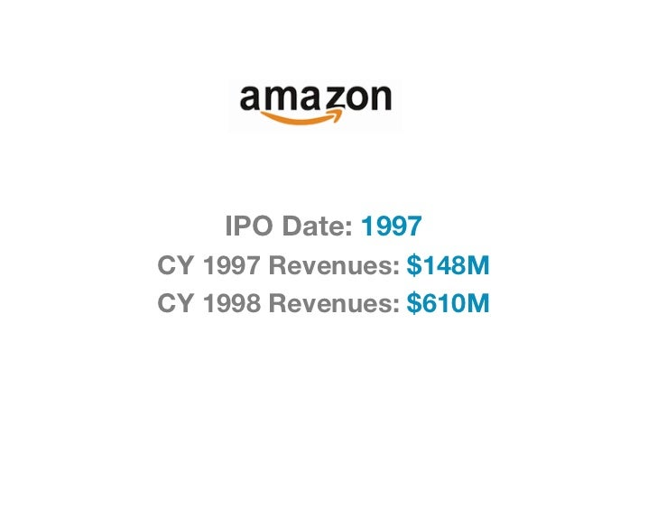 IPO Date: 1997CY 1997 Revenues: $148MCY 1998 Revenues: $610M