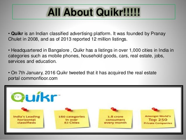 Quikr  com online classified company