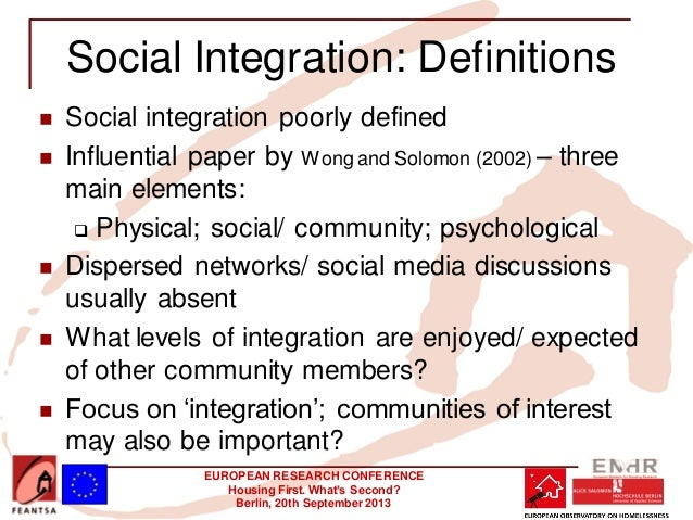social integration 14032018 the challenge has welcomed today's proposals from the  government to promote social integration in the uk the government's integrated .