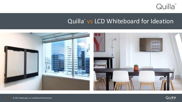 © 2017 QuirkLogic, Inc. Confidential & Proprietary© 2017 QuirkLogic, Inc. Confidential & Proprietary Quilla™ vs LCD Whiteb...