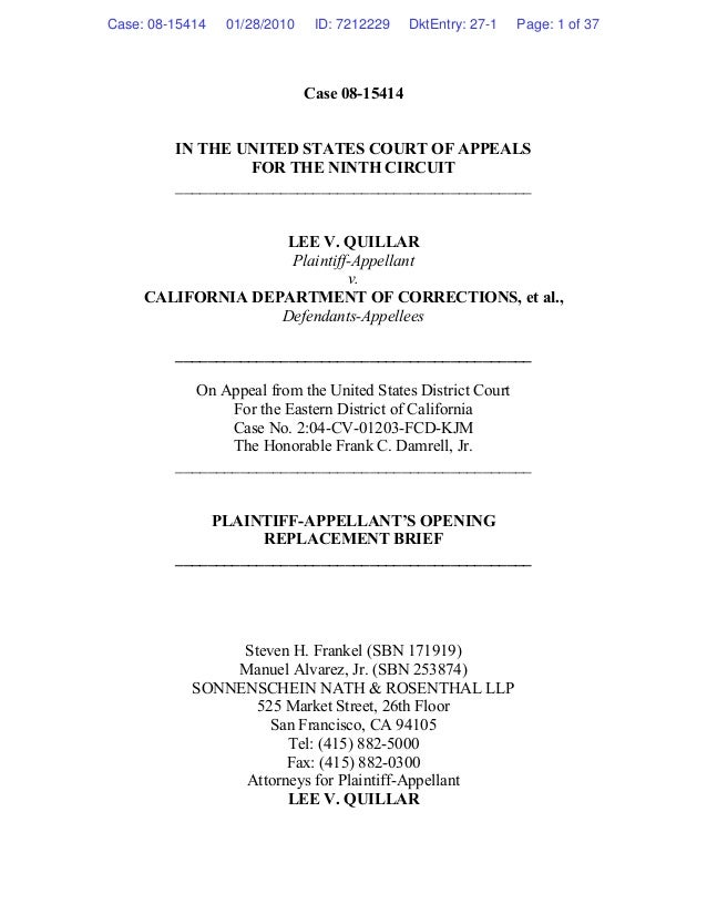 Case 08-15414 IN THE UNITED STATES COURT OF APPEALS FOR THE NINTH CIRCUIT ____________________________________________ LEE...