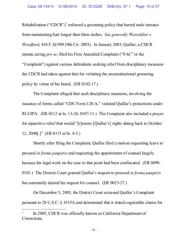 Home Purchase Contract Template. Quillar V California Department Of  Corrections Case No 08 15414 F U2026