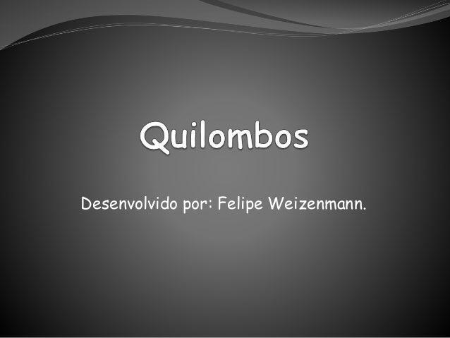 Desenvolvido por: Felipe Weizenmann.