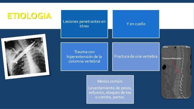 MANIFESTACIONES CLÍNICAS No traumático • Disnea al esfuerzo • Tos • Sintomatología asociada a patología de base Traumático...