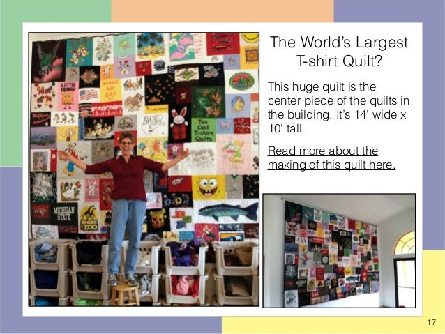 Quilts Hanging in the Too Cool T-shirt Quilt Shop in Charlotte