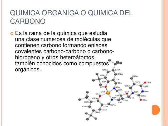 Resultado de imagen de La química orgánica, o química [de las cadenas] de carbono