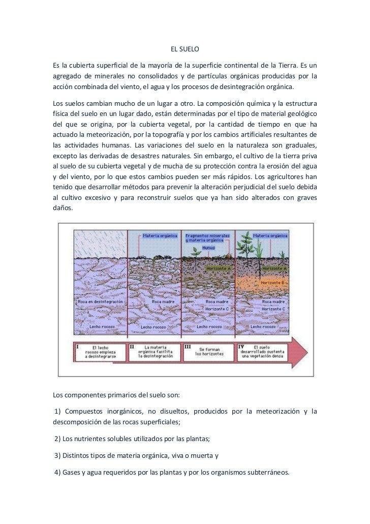 EL SUELOEs la cubierta superficial de la mayoría de la superficie continental de la Tierra. Es unagregado de minerales no ...