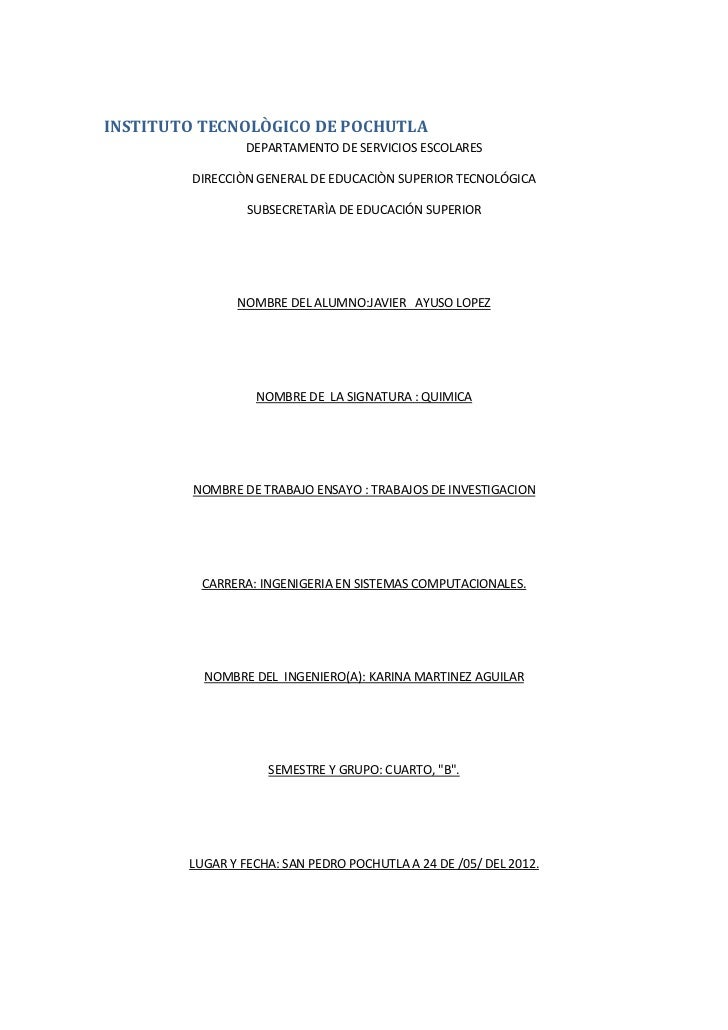 INSTITUTO TECNOLÒGICO DE POCHUTLA                 DEPARTAMENTO DE SERVICIOS ESCOLARES         DIRECCIÒN GENERAL DE EDUCACI...