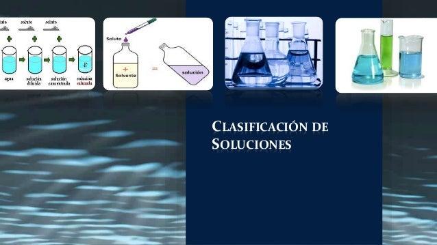 CLASIFICACIÓN DE SOLUCIONES