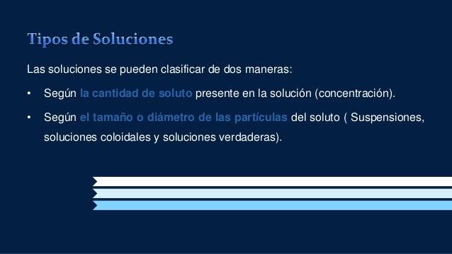 Clasificación de las soluciones Slide 3