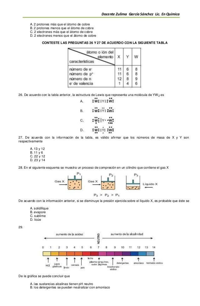 Quimica Icfes 11ª