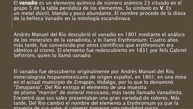 Inventos quimicos mexicanos vanadio eritronio 13 urtaz Gallery
