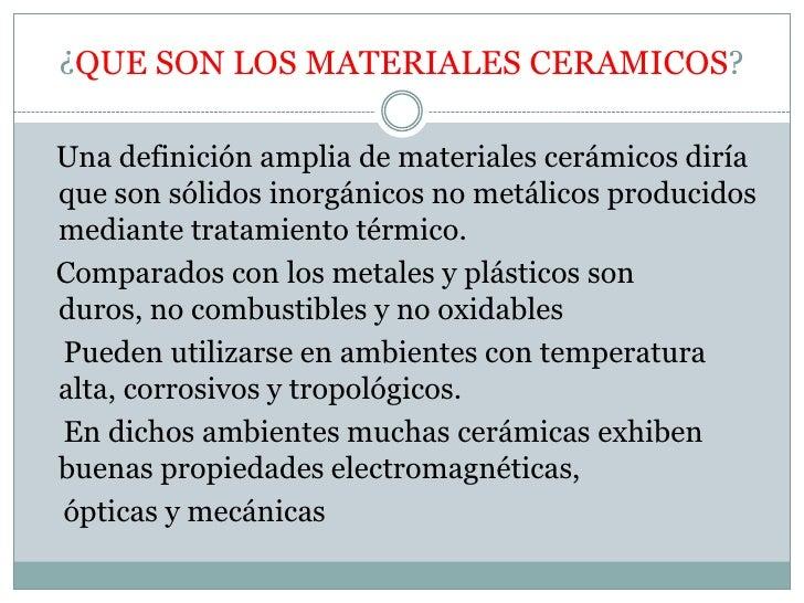 Quimica materiales ceramicos for Inmobiliaria definicion