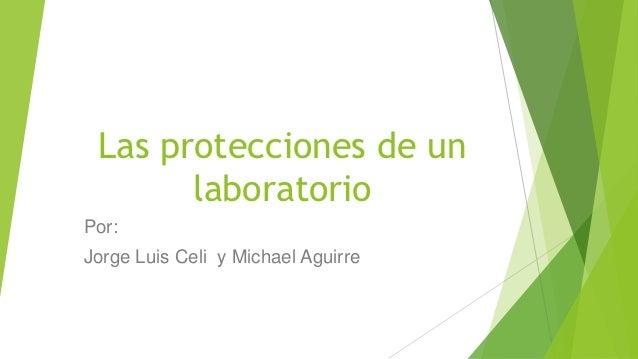 Las protecciones de un       laboratorioPor:Jorge Luis Celi y Michael Aguirre