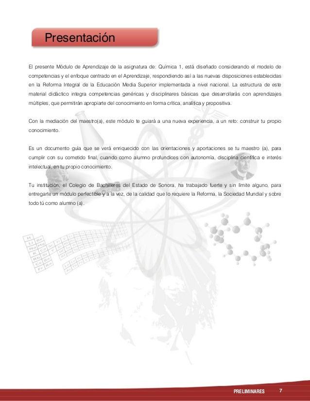 Quimica I Cobach Sonora