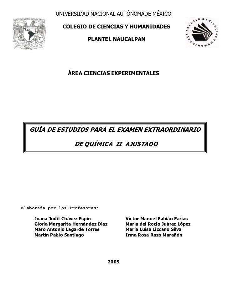 UNIVERSIDAD NACIONAL AUTÓNOMADE MÉXICO                COLEGIO DE CIENCIAS Y HUMANIDADES                          PLANTEL N...