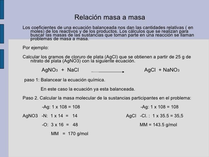 que es masa en quimica quimica diapositiva