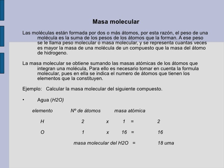 Quimica diapositiva for Molecula definicion