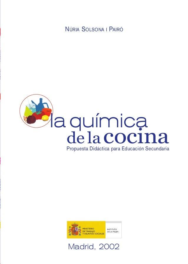 Quimica en la cocina for Libro la quimica y la cocina pdf