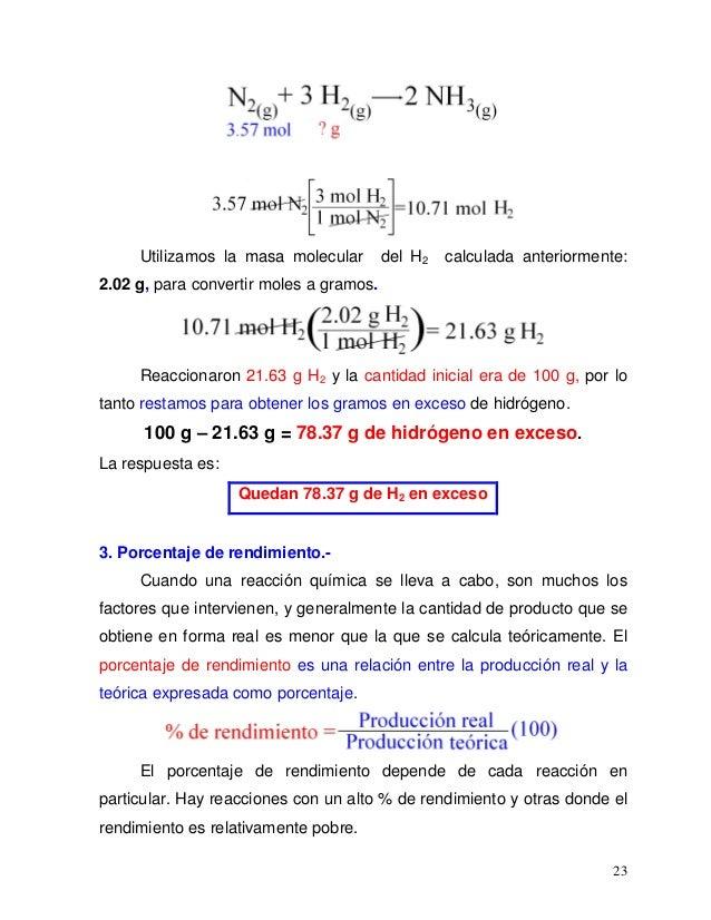 Quimica estequiometría