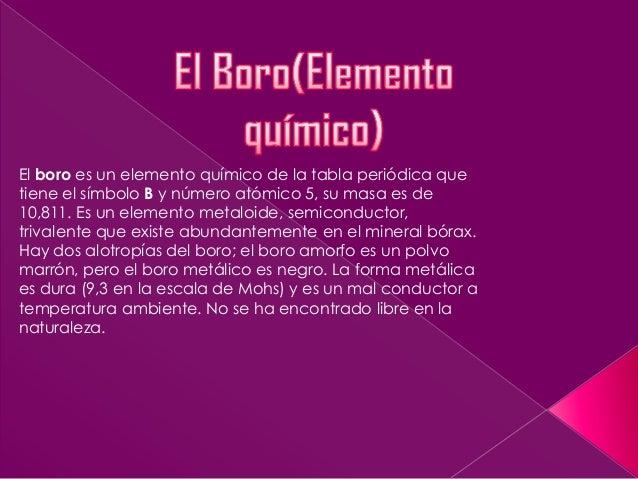 El boro elemento qumico el boro es un elemento qumico de la tabla peridica que tiene el smbolo b y urtaz Gallery