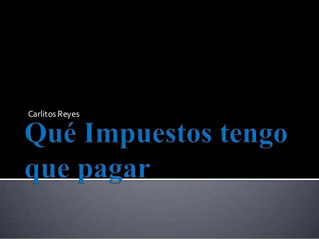 Carlitos Reyes