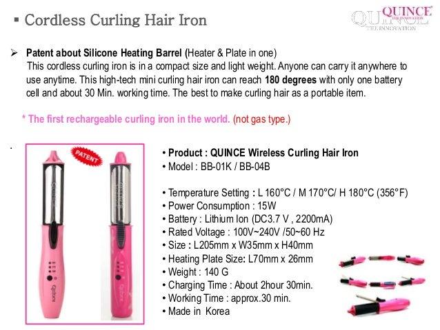 portable wireless mini hair iron 13  cordless curling hair iron