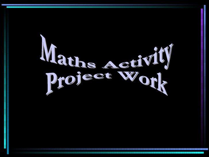 Maths Activity  Project Work