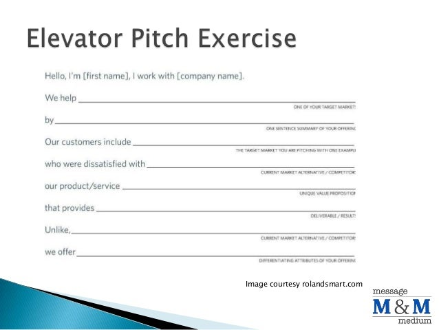 Entrepreneurship Class Elevator Pitch Exercise