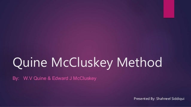 Method download quine-mccluskey