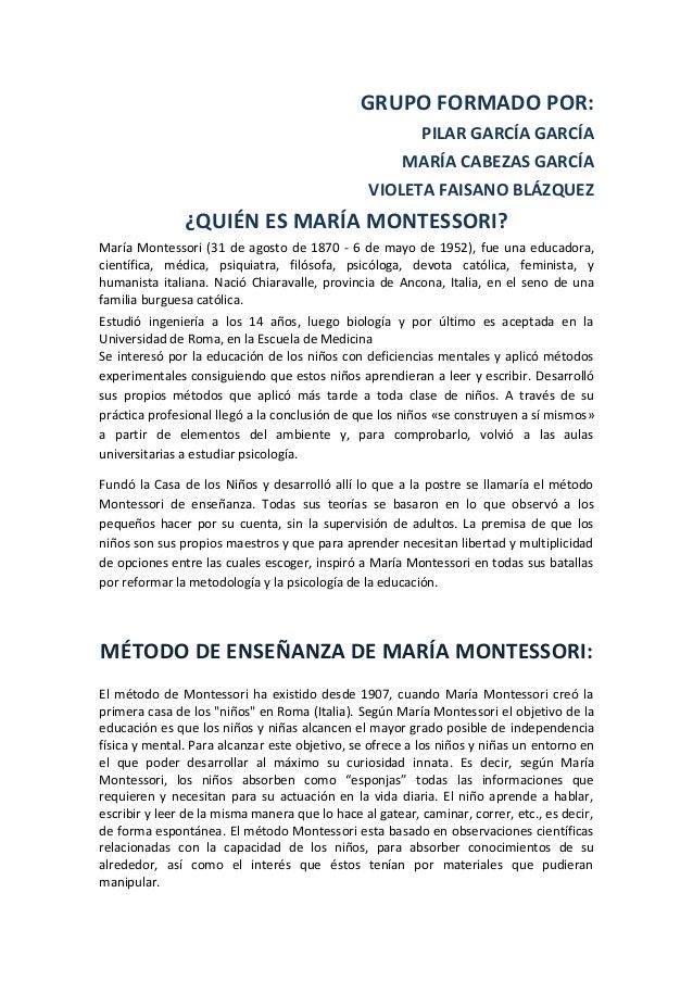 GRUPO FORMADO POR:                                                          PILAR GARCÍA GARCÍA                           ...