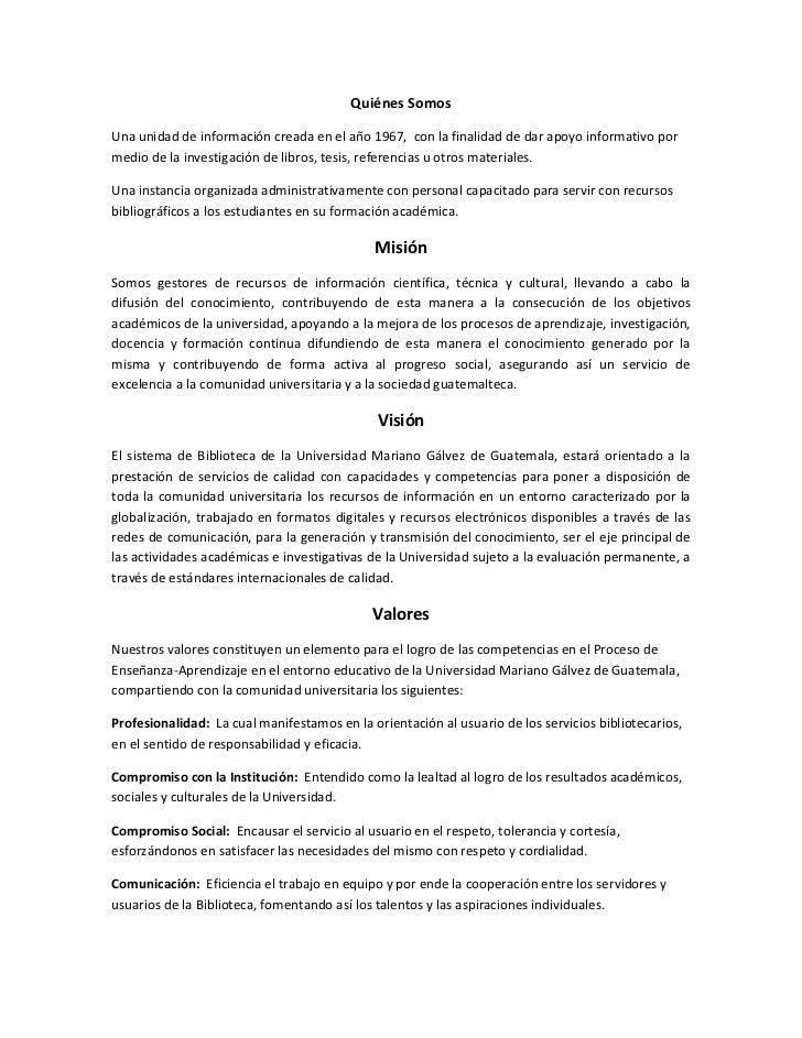 Quiénes SomosUna unidad de información creada en el año 1967, con la finalidad de dar apoyo informativo pormedio de la inv...
