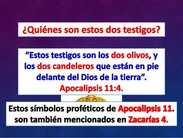 Quiénes son los dos testigos de apocalipsis 11. Slide 2