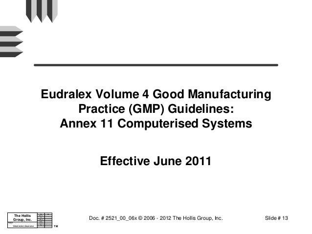 Fda 21 Cfr Part 11 And Related Regulations And Guidances
