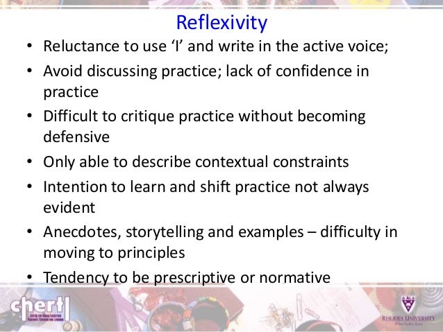 critical reflection and reflexivity relationship
