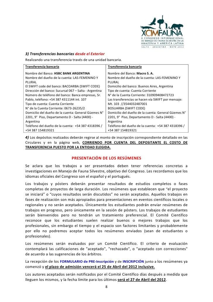 Quinta Circular Del Xcimfauna Espanol