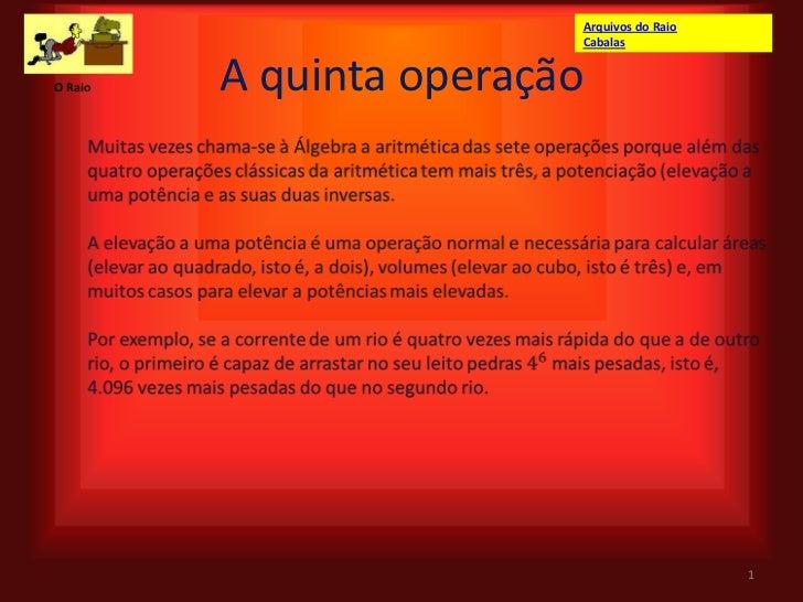 Arquivos do Raio                         CabalasO Raio   A quinta operação                                            1