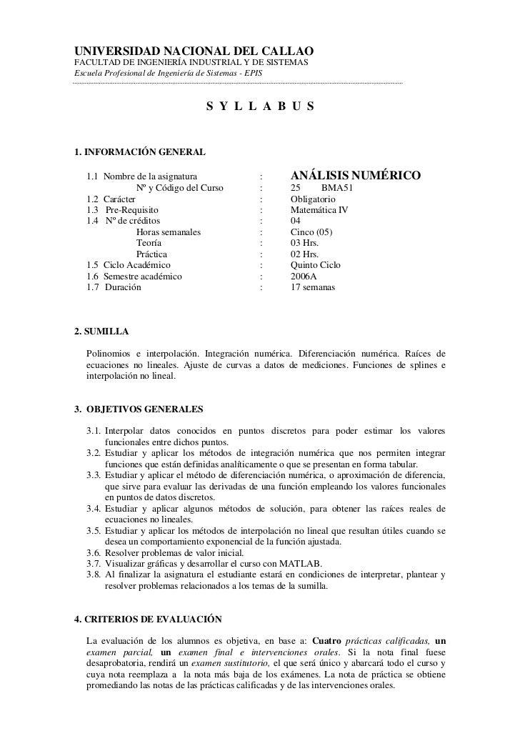 UNIVERSIDAD NACIONAL DEL CALLAOFACULTAD DE INGENIERÍA INDUSTRIAL Y DE SISTEMASEscuela Profesional de Ingeniería de Sistema...