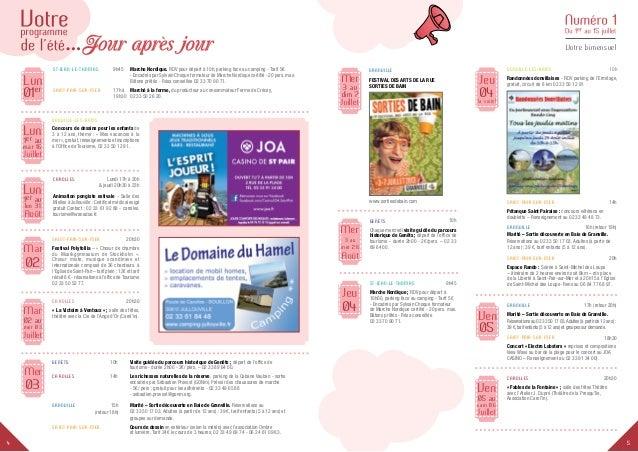 54 Votre bimensuel Lun Juillet 1er au mar 16 Donville-Les-Bains  Concours de dessins pour les enfants de 3 à 12 ans, thè...